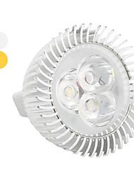 Faretti 3 LED ad alta intesità MR16 GU5.3 3 W 270 LM K Bianco caldo DC 12 V