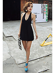 Sheath/Column Halter Empire Mini/Dress