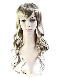 sin tapa larga de calor 100% amigable de fibra peluca de pelo rizado