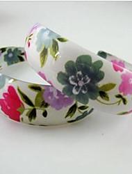 цветочные сережки обруча печати