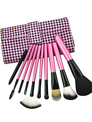 Case grain Makeup Brush With Free Case (10Pcs)
