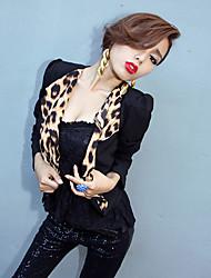 couleur léopard blocage châle décolleté Blazer