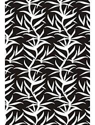 """acrílico alfombras peludas zona con motivo de hojas artística 4 """"* 6"""""""
