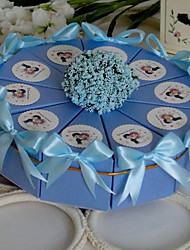 Baby's Breath Light Sky Blue Cake Favor Box (Set of 10)