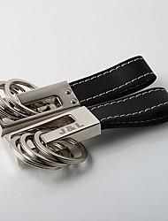personalizado preto twister anel de chave - 3 anéis (Conjunto de 4)