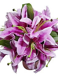 Lilac Satin Lily Bridal Bouquet