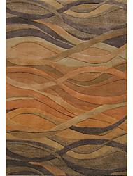 хохолком шерсти ковры области с волнистыми картины полосой 3 '* 5'