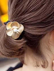 liga pérola empate cabelo da flor
