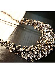 foré collier en cristal de dossard