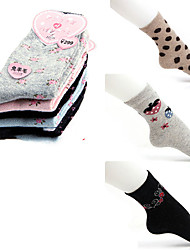 bonito às bolinhas de morango de lã grossas meias trimestre (mais cores)
