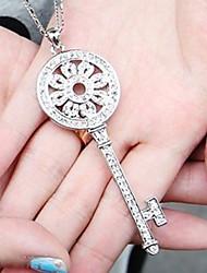 Sparkle Crystal Key Necklace