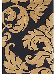 Acrylic Tufted Area Rugs with Artisctic Leaf Pattern 3'*5'