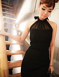 Sheath/Column High-neck Halter Mini/Dress