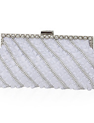 Silk With Rhinestone Clutch/Evening Bag (More Colors)