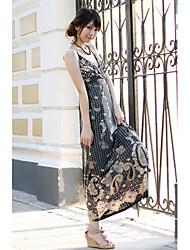 Polyester Maxi Dress With Spaghetti Straps