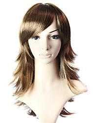 Capless Medium Long 100% Heat Friendly Fiber Natural Look Hair Wig