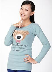 Bear Print Cute Long Sleeve T-shirt