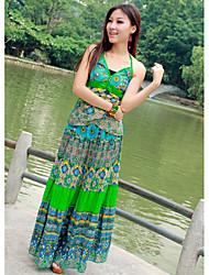 Cotton Halter Neck Maxi Dress (More Colors)