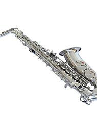 alto níquel saxofone banhado a prata
