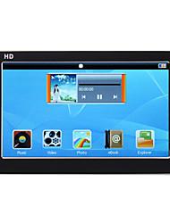 hd player de vídeo mp5 com 4,3 polegadas touch screen + 8gb
