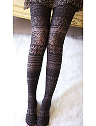 Lattice Print Sheer Pantyhose