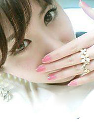 кристалл клевер золотое кольцо