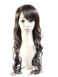Capless Long 100% Heat Friendly Fiber Curly Hair Wig