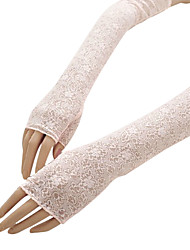 Opera Length Fingertips Glove Lace/Cotton Bridal Gloves/Party/ Evening Gloves