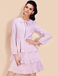 TS Layered Ruffle Drawstring Dress