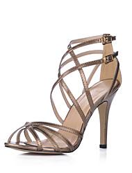 Leatherette Stiletto Heel Sandals (More Colors)