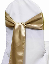 "Wedding Décor 7.8"" Simple Elegant Satin Chair Sash – Set of 6 (More Colors)"