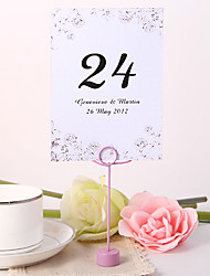 Personalized Table Number Card - Flower Design