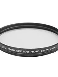véritable JYC super mince haute performance à large bande Pro1 Filtre CPL 58mm