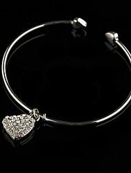 Love Story Ladies' Rhinestone Charm Bracelet