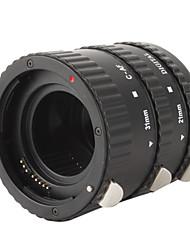 3-pièces tube d'extension macro fixé pour reflex numérique Nikon - noir