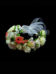 Women's Flower Girl's Silk Headpiece-Wedding Special Occasion Flowers