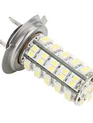 H7 68-SMD LED 5W White Car Headlight Bulb 12v