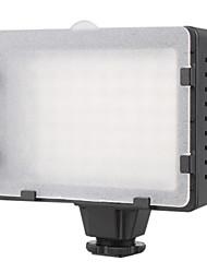 5600K 76-led wit licht video lamp met filters voor camera