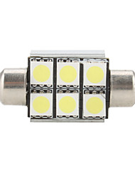 36mm 6 SMD Super White 5500K LED Glühbirne