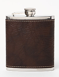 Gift Groomsman Chocolate Crack Stone Lines Quality Stainless Steel 7-oz Flask