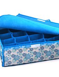 16 compartimentos caixa de armazenamento macio tampa