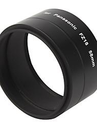 58 milímetros de metal tubo adaptador de lente de câmera digital para Panasonic FZ18 - preta