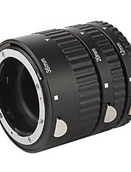 3-pièces ensemble du tube d'extension macro (abs) pour Canon reflex numérique