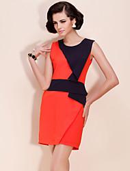 TS Color Block Elegant Sheath Dress