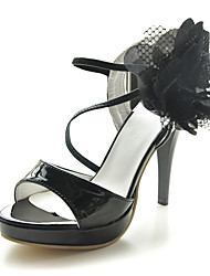 NATALKA - Sandália Salto Stiletto em Couro de Patente