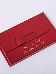 Personalized Red Slide-Out Dispense Card Case (Set of 4)