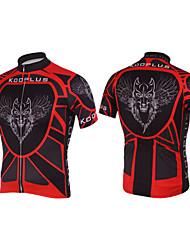 KOOPLUS Ciclismo Blusas / Camisa Homens Moto Respirável / Secagem Rápida Manga Curta Poliéster PretoXS / S / M / L / XL / XXL / XXXL /