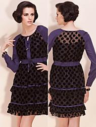 TS Polka Dot Chiffon Lace Dress