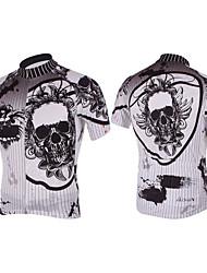 KOOPLUS Ciclismo Blusas / Camisa Homens Moto Respirável / Secagem Rápida Manga Curta Poliéster BrancoXS / S / M / L / XL / XXL / XXXL /