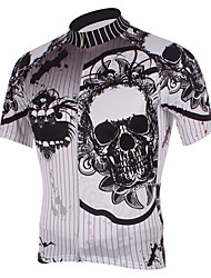 Kooplus Cyklodres Pánské Krátké rukávy Jezdit na kole Dres Vrchní část oděvu Rychleschnoucí Prodyšné Polyester Lebky Jaro Léto